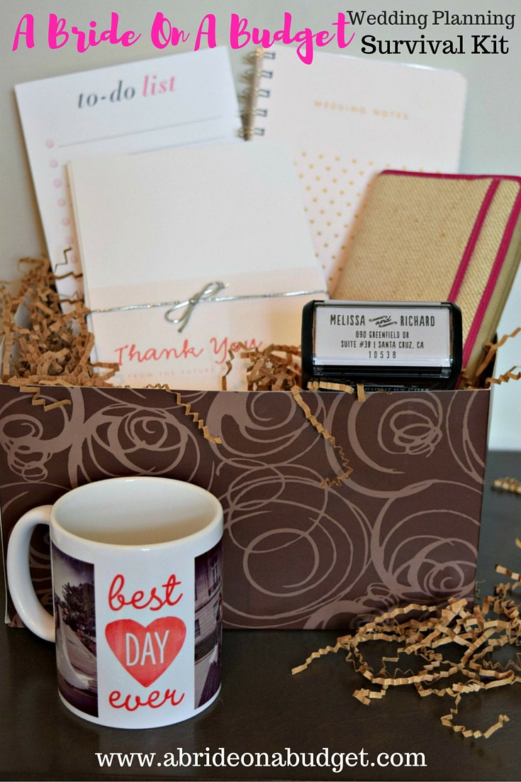 Wedding Planning Gift Ideas  A Bride A Bud Wedding Planning Survival Kit
