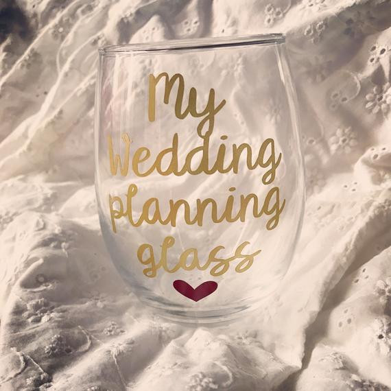 Wedding Planning Gift Ideas  Wedding planning glass engagement t engagement ts for