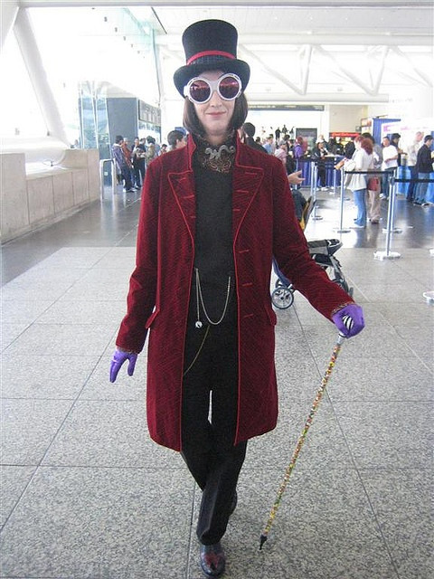 Willy Wonka Costume DIY  Willy Wonka Costume at WonderCon 2007 by Great White Snark