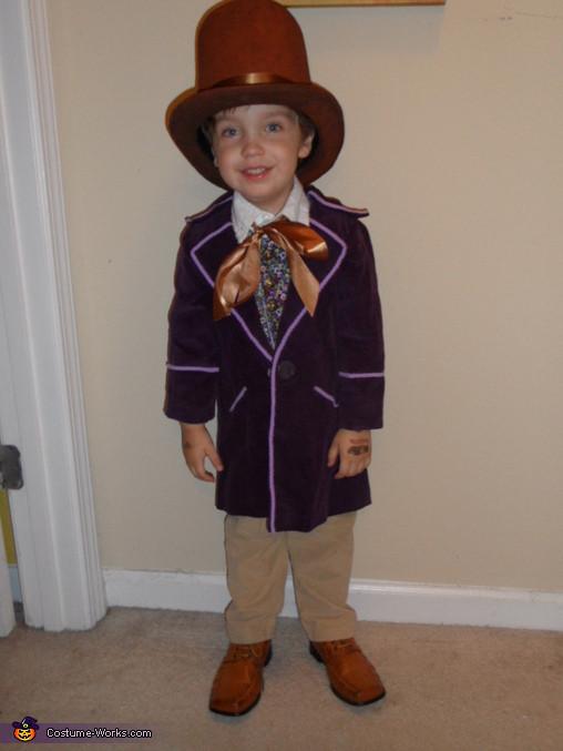 Willy Wonka Costume DIY  Little Willy Wonka Halloween Costume 3 3