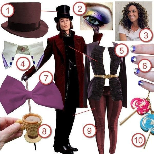 Willy Wonka Costume DIY  Willy Wonka · DIY The Look · Cut Out Keep Craft Blog