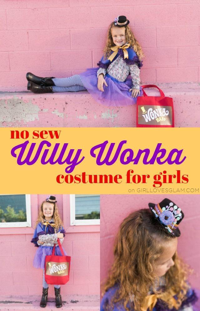 Willy Wonka Costume DIY  No Sew Willy Wonka Costume for Girls