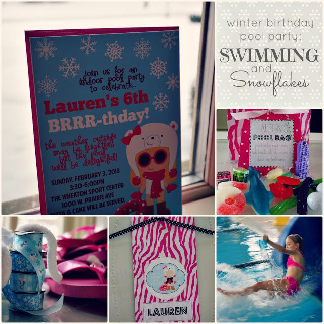 Winter Pool Party Ideas  5 foot 12 creations swimming and snowflakes a winter