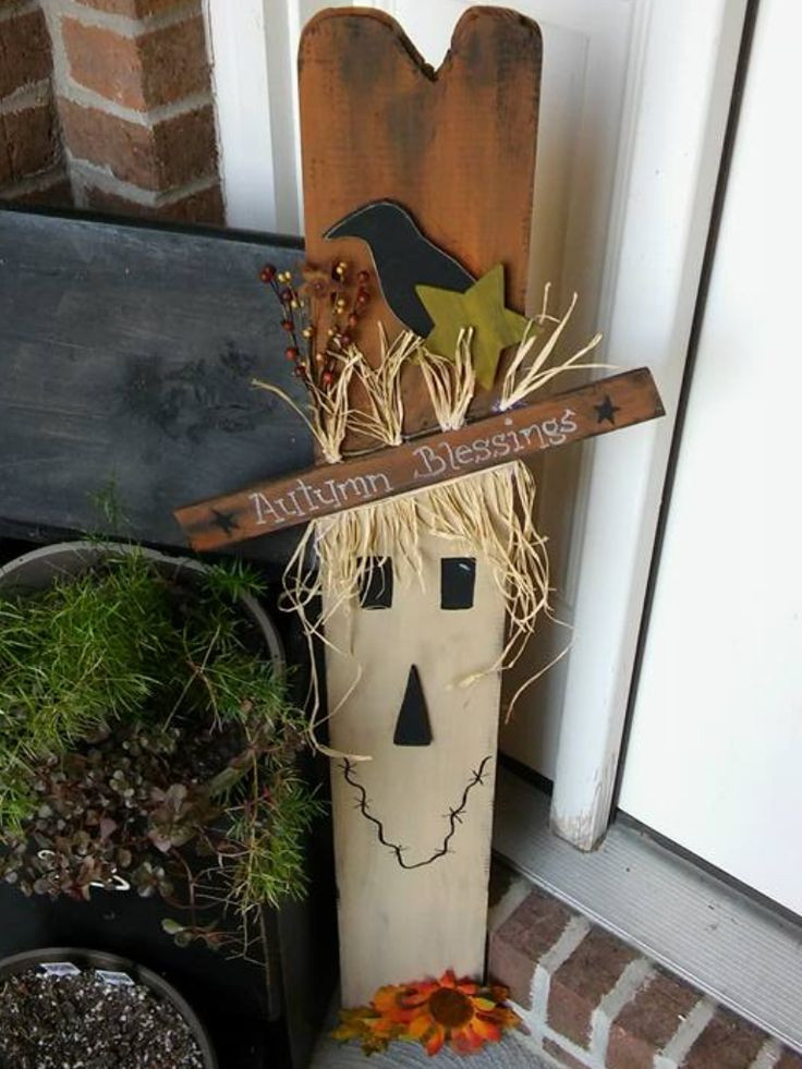 Wood Craft Ideas  342 best images about Fall decor on Pinterest
