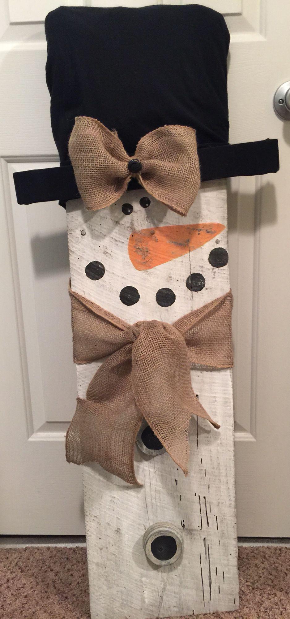 Wood Craft Ideas  Barn wood snowman …