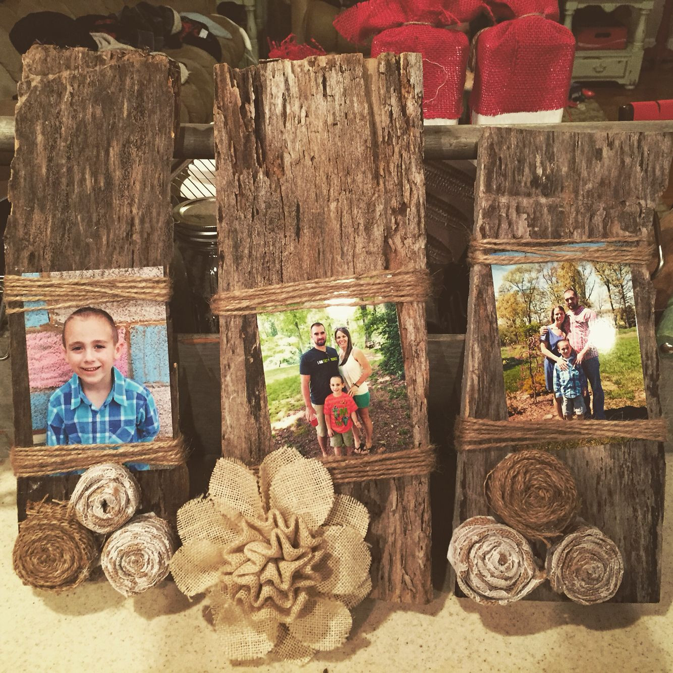 Wood Craft Ideas  My hand made barn wood picture frames with 100 year old
