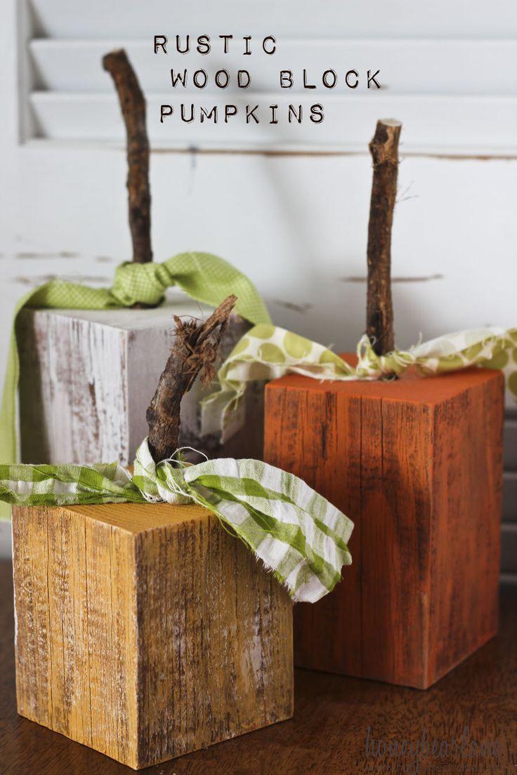 Wood Craft Ideas  Rustic Wood Pumpkins The Best Fall Ideas