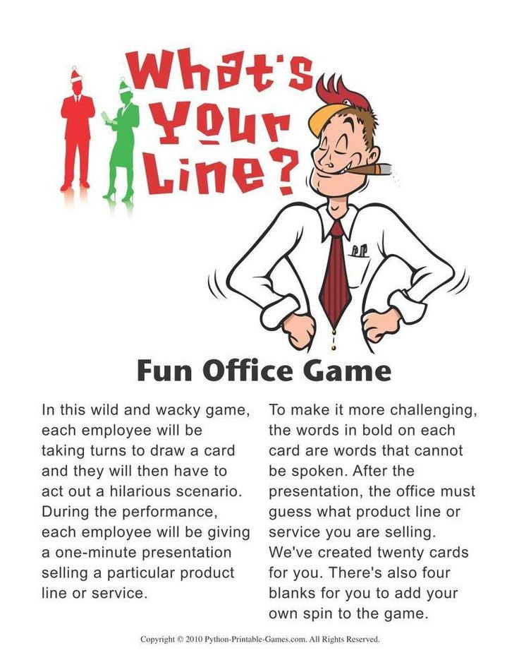 Work Holiday Party Game Ideas  7 best Printable Games for the fice images on Pinterest