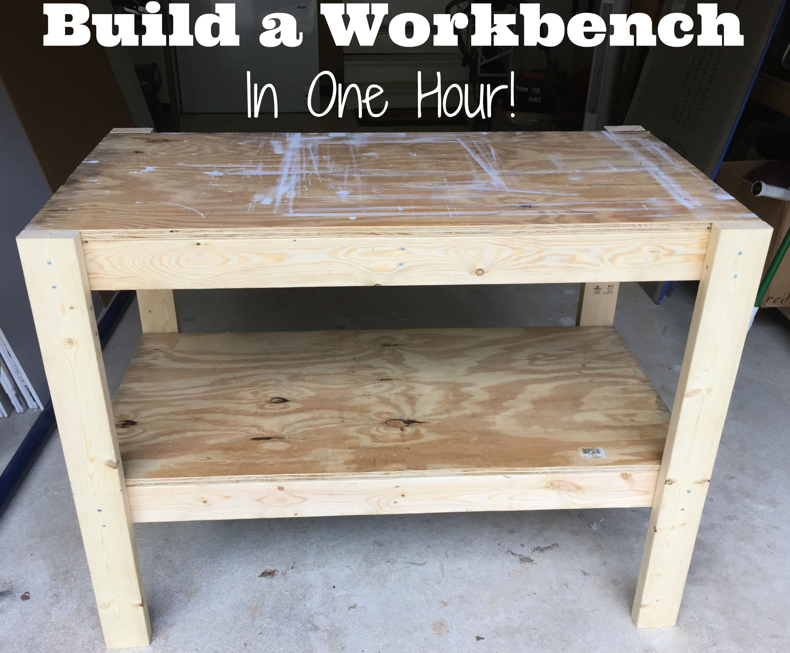 Workbench Plans DIY  DIY Workbench with free plans and cut list from the Craft