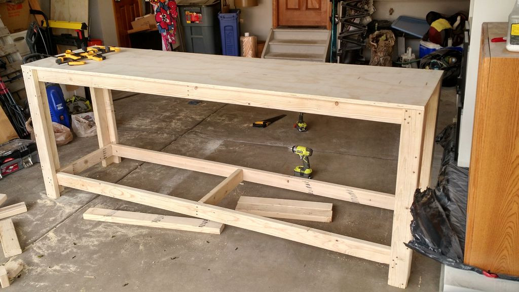 Workbench Plans DIY  How to Build a Sturdy Workbench Inexpensively 5 Steps