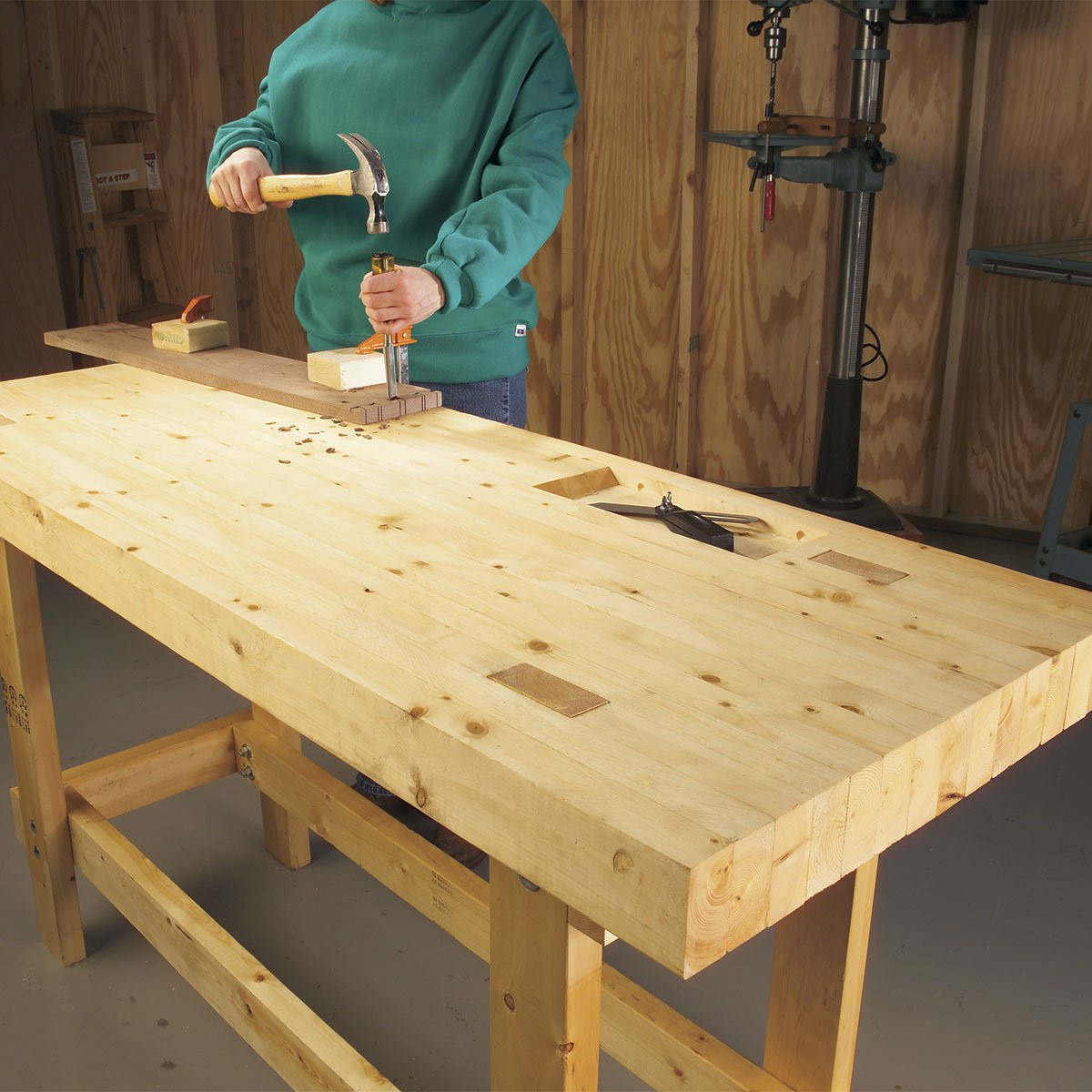 Workbench Plans DIY  12 Super Simple Workbenches You Can Build — The Family