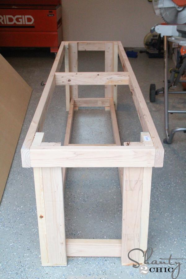 Workbench Plans DIY  DIY Workbench Free Plans Shanty 2 Chic