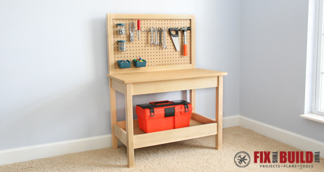 Workbench Plans DIY  How to Make a DIY Kids Workbench