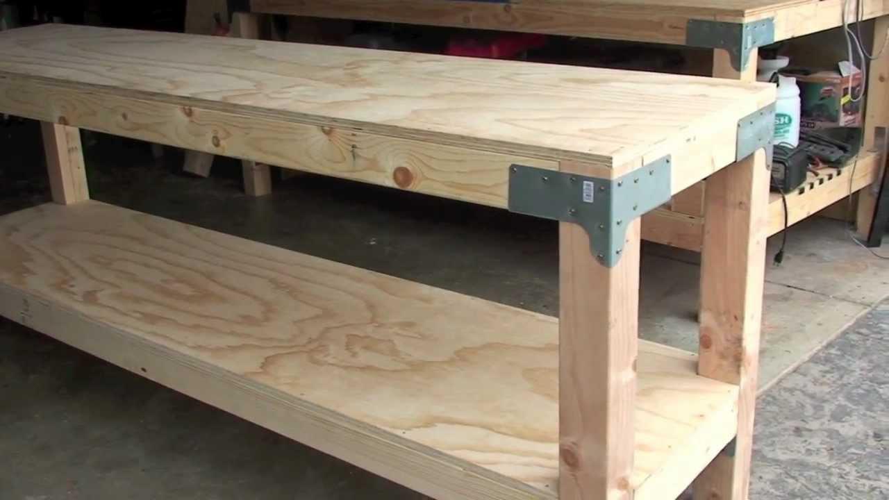 "Workbench Plans DIY  Work Bench $80 00 24"" x 96"" 36"" tall J Black"