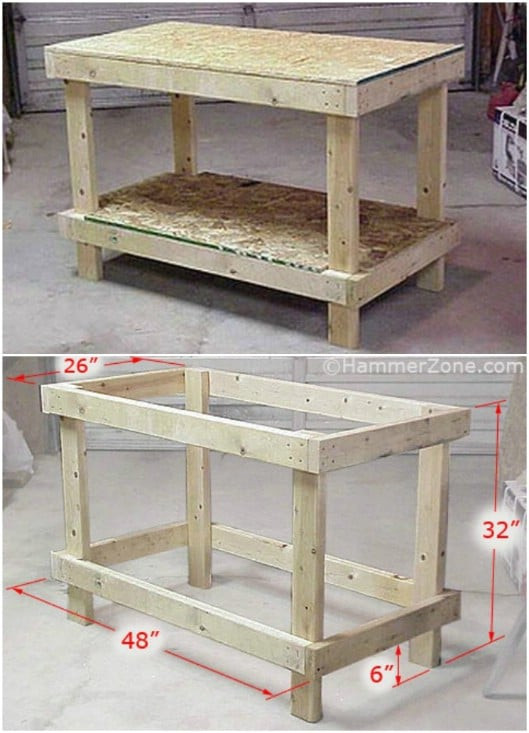 Workbench Plans DIY  50 DIY Home Decor And Furniture Projects You Can Make From