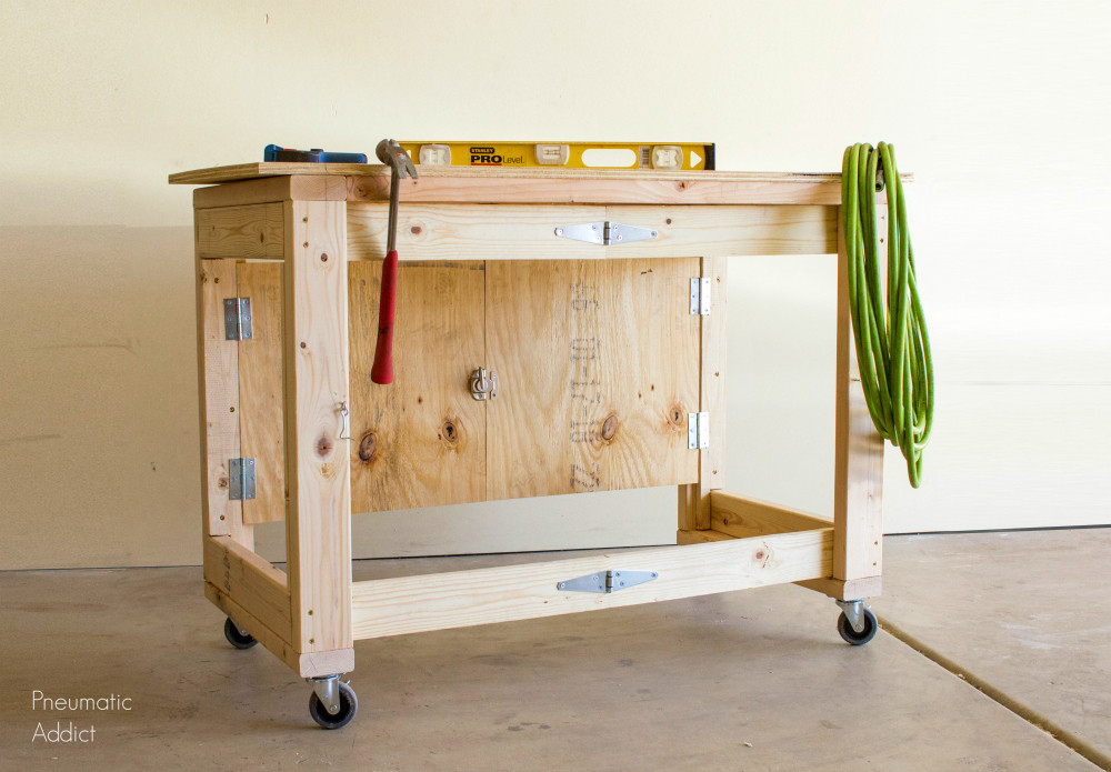 Workbench Plans DIY  DIY Folding Mobile Workbench Modifications