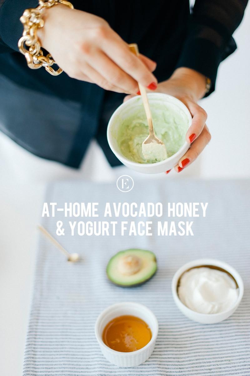 Yogurt Face Mask DIY  At Home Avocado Honey Yogurt Face Mask Beauty Bets
