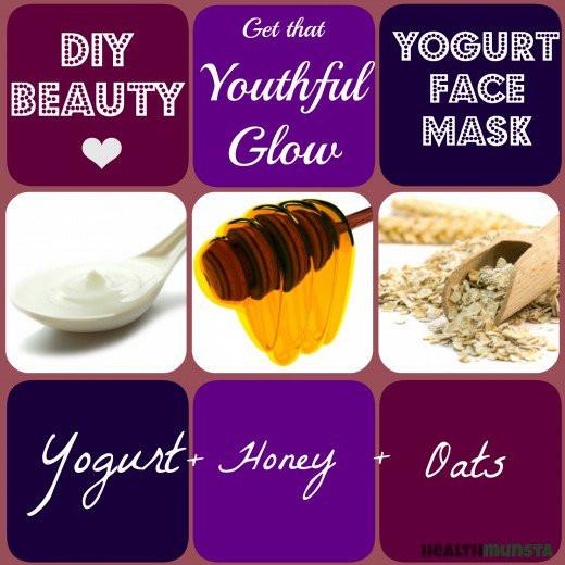 Yogurt Face Mask DIY  DIY Homemade Yogurt Face Mask Recipes for Beautiful Skin