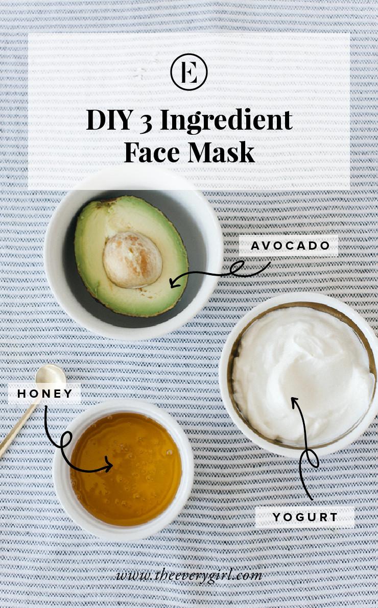 Yogurt Face Mask DIY  At Home Avocado Honey & Yogurt Face Mask The Everygirl