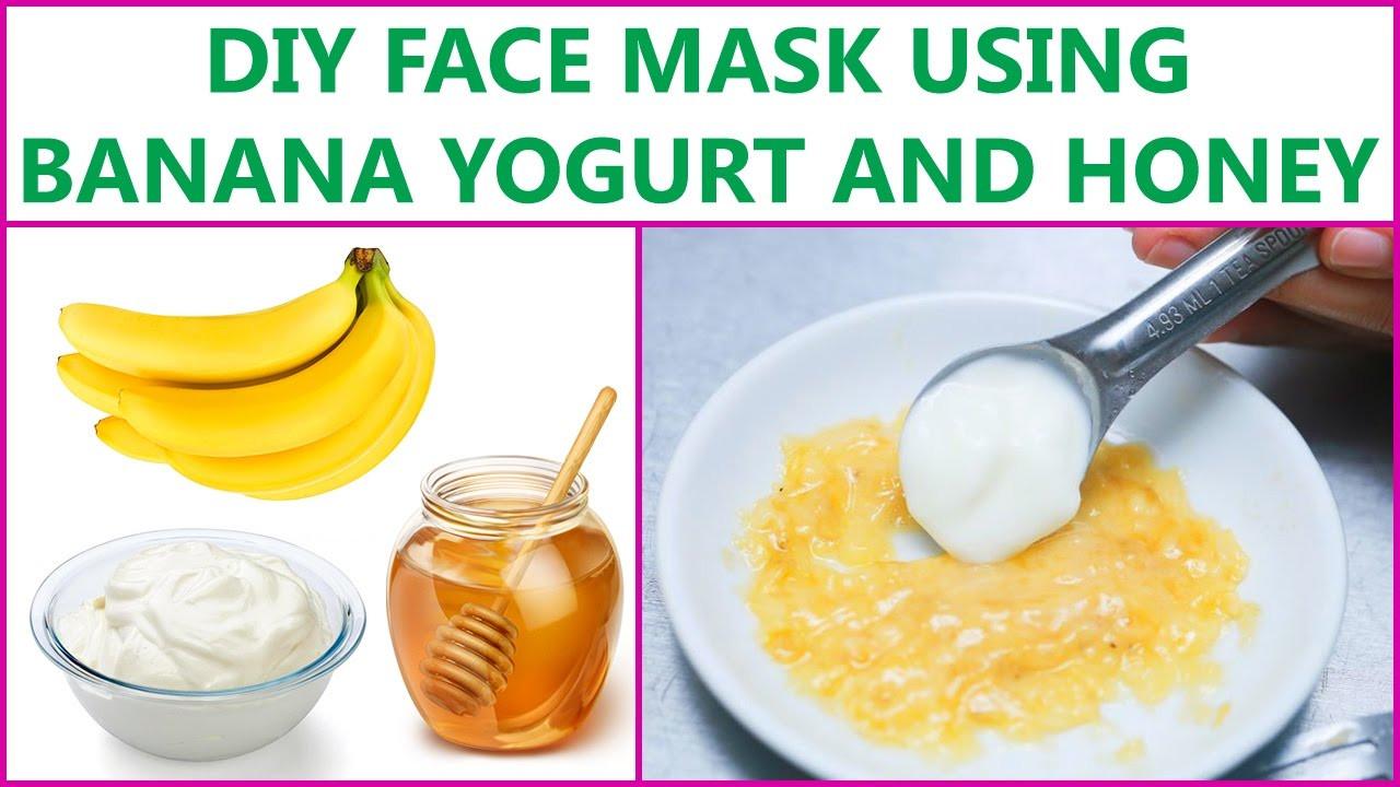 Yogurt Face Mask DIY  DIY Face Mask Using Banana Yogurt And Honey