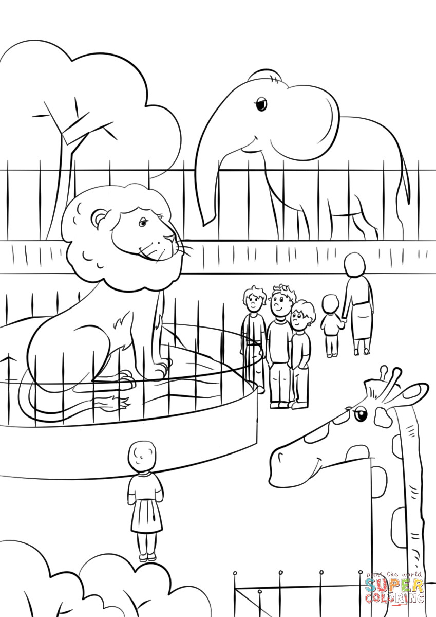 Zoo Animals Coloring Pages  Zoo Animals coloring page