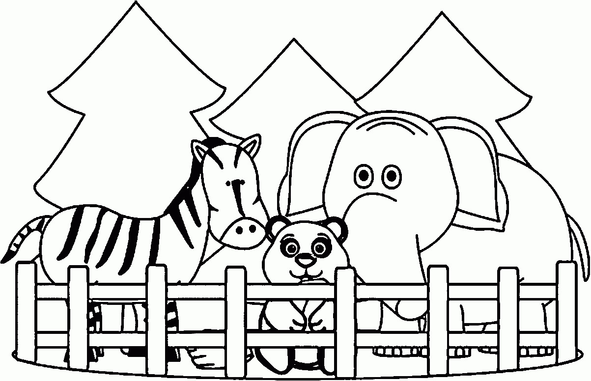Zoo Animals Coloring Pages  Zoo Animals Coloring Pages Best Coloring Pages For Kids