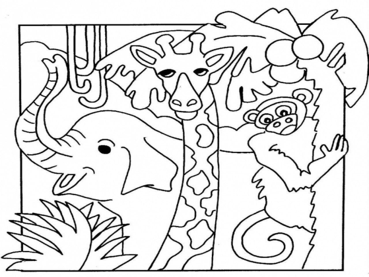 Zoo Animals Coloring Pages  Zoo Animal Coloring Pages coloringsuite