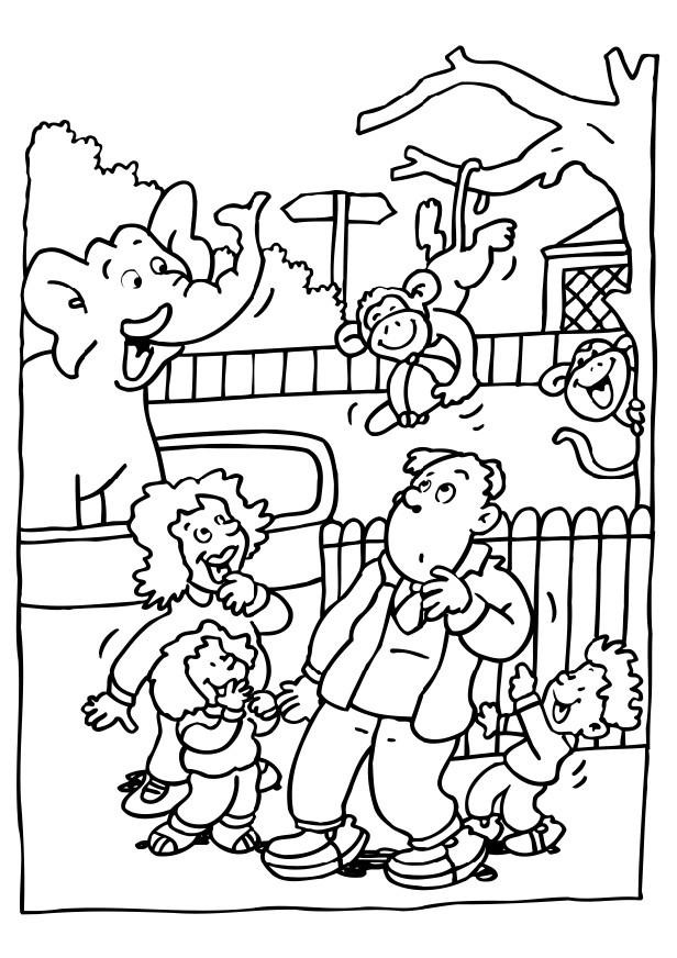Zoo Animals Coloring Pages  Free Printable Zoo Coloring Pages For Kids