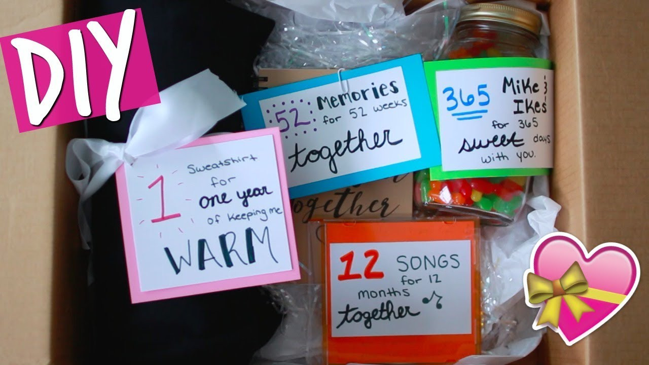 1 Year Anniversary Gift Ideas For Him  DIY ANNIVERSARY GIFT FOR HIM
