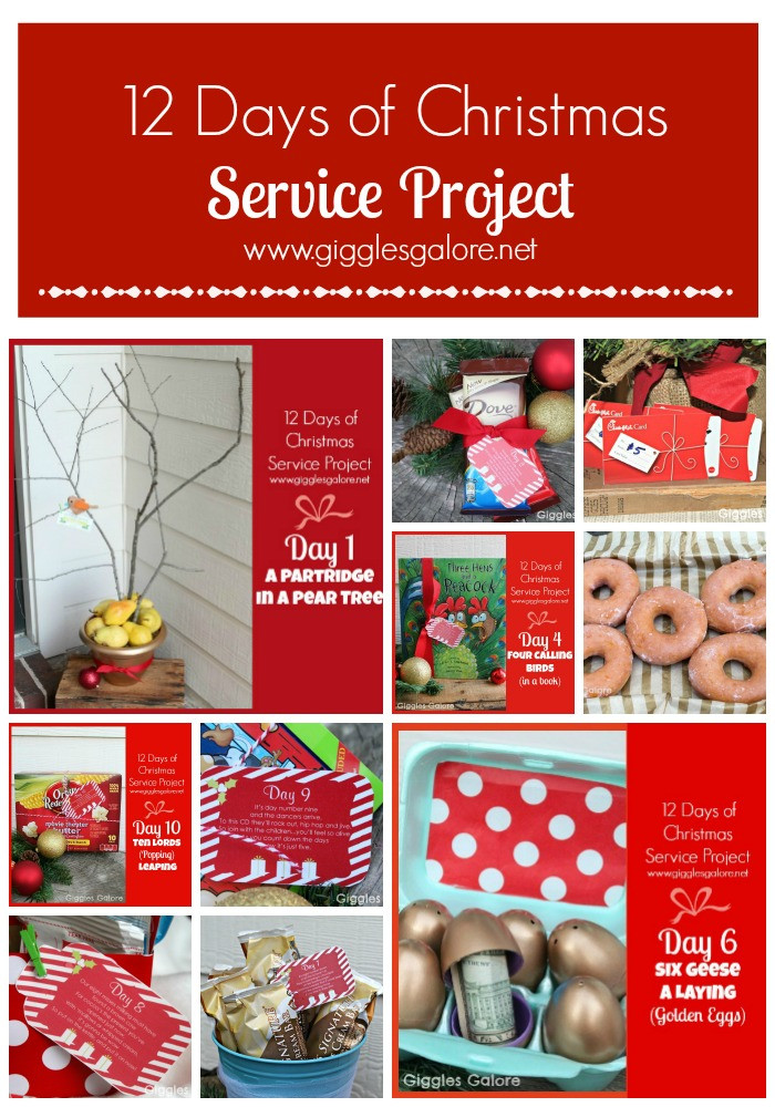 12 Days Of Christmas Gift Ideas  12 Days of Christmas Service Project