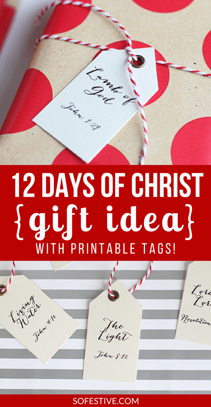 12 Days Of Christmas Gift Ideas  Simple 12 Days of CHRIST Christmas Gift Idea So Festive