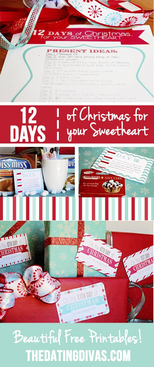 12 Days Of Christmas Gift Ideas  12 Days of Christmas Countdown for your Sweetheart
