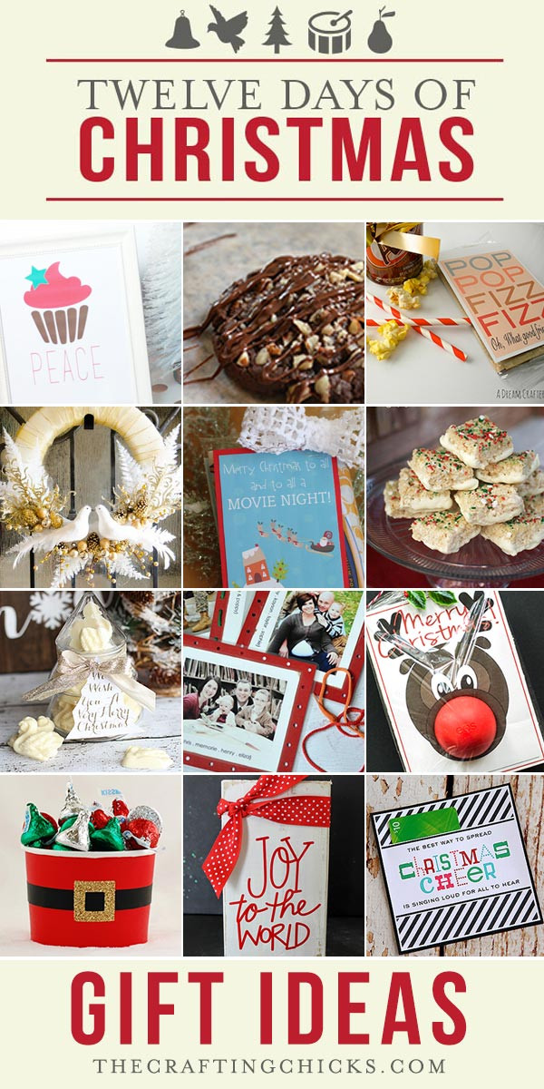 12 Days Of Christmas Gift Ideas  12 Days of Christmas Gift Ideas Part 2 The Crafting Chicks