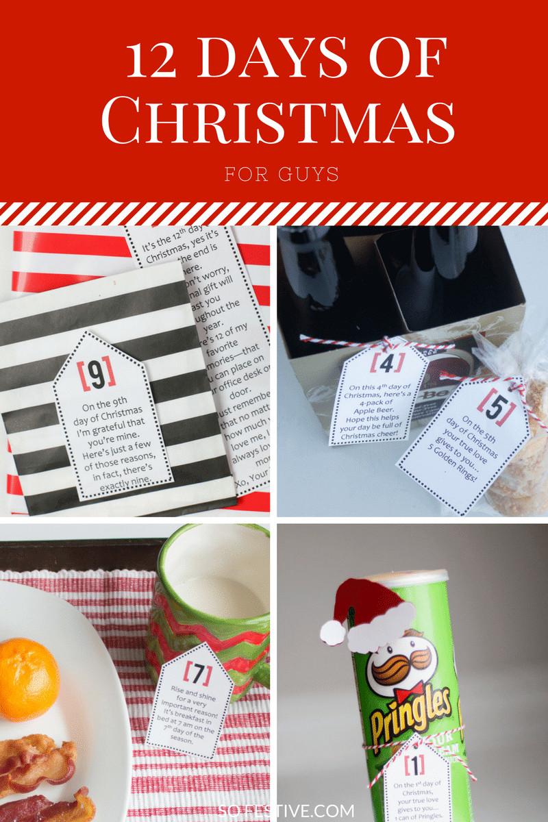 12 Days Of Christmas Gift Ideas  Simple 12 Days of Christmas For Guys So Festive
