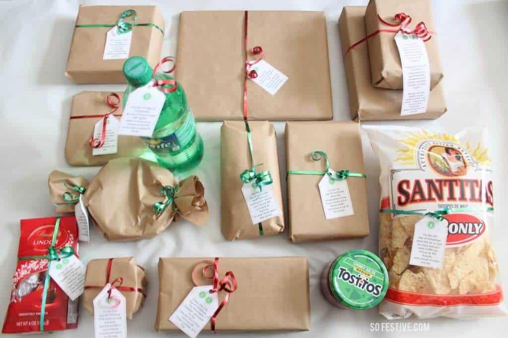 12 Days Of Christmas Gift Ideas  The Easiest 12 Days of Christmas Idea Printables So