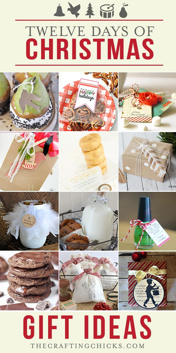 12 Days Of Christmas Gift Ideas  12 Days of Christmas Gift Ideas Part 1 The Crafting Chicks