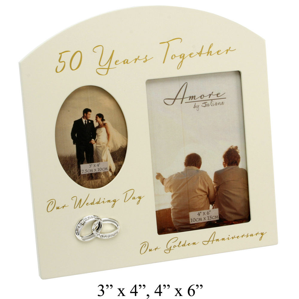 50 Year Anniversary Gift Ideas  50th Gold Wedding Anniversary Gifts Wooden Double