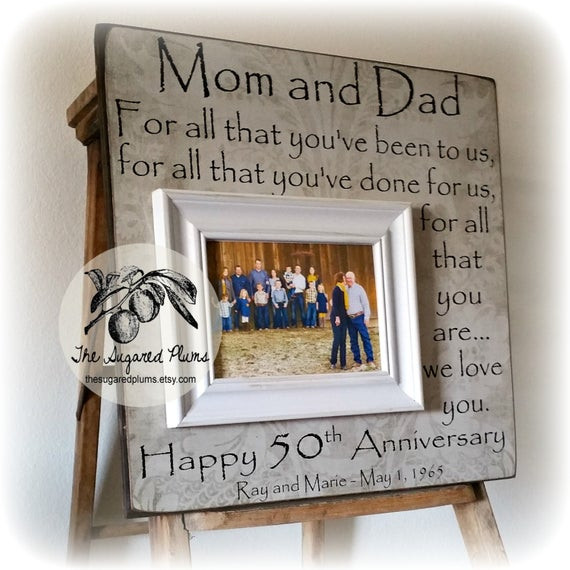 50 Year Anniversary Gift Ideas  50th Anniversary Gifts Parents Anniversary Gift For All That