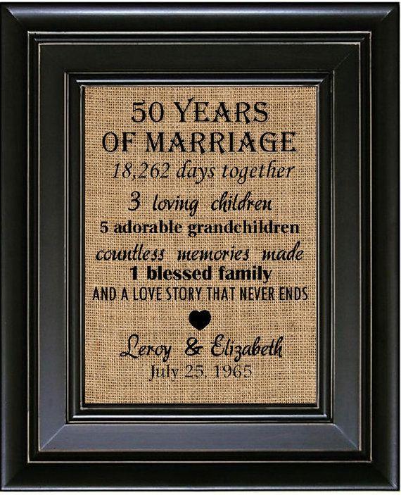 50 Year Anniversary Gift Ideas  Best 25 50th wedding anniversary t ideas on Pinterest