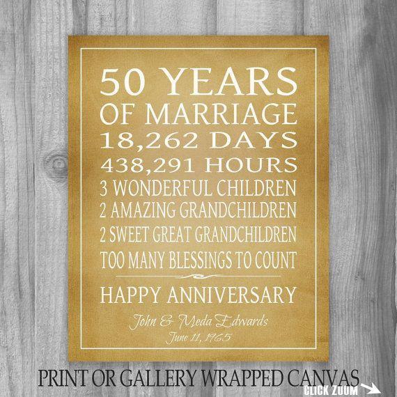 50 Year Anniversary Gift Ideas  Best 25 Golden anniversary ts ideas on Pinterest