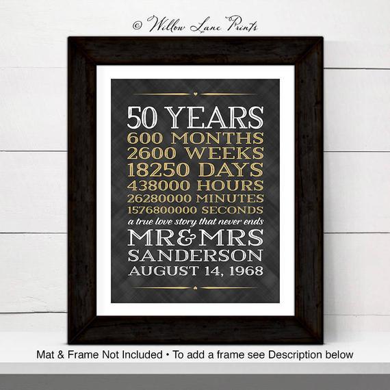 50 Year Anniversary Gift Ideas  50th anniversary ts for grandparents 50 year anniversary