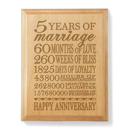 5Th Anniversary Gift Ideas For Couple  5th Wedding Anniversary Gift Ideas for Wife Vivid s