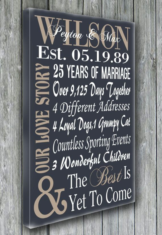 5Th Anniversary Gift Ideas For Couple  25 Best Ideas about 25th Anniversary Gifts on Pinterest