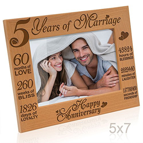 5Th Anniversary Gift Ideas For Couple  5th Year Anniversary Gifts for Her Amazon