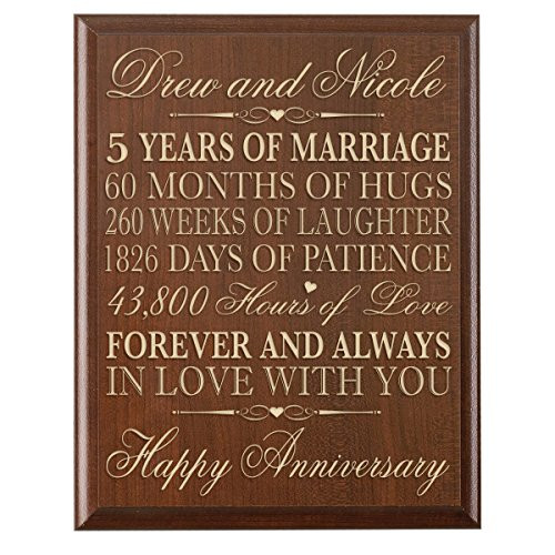 5Th Anniversary Gift Ideas For Couple  5 Year Anniversary Gift for Him Amazon