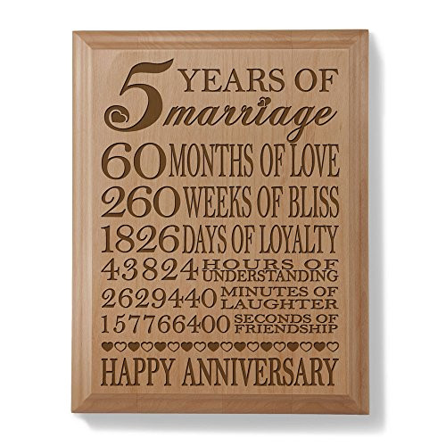 5Th Anniversary Gift Ideas For Couple  Wood Anniversary Gift Amazon