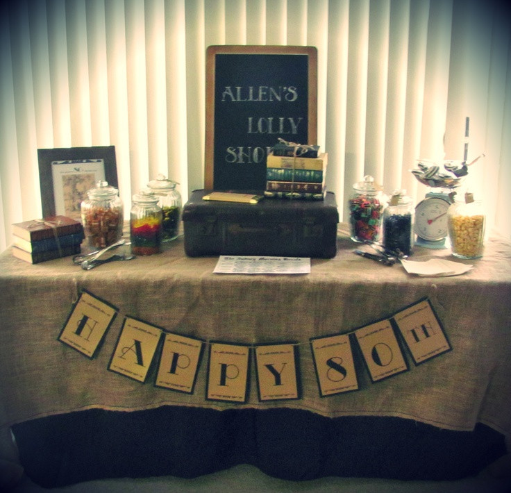 80Th Birthday Party Ideas For Dad  1000 ideas about 80th Birthday Decorations on Pinterest