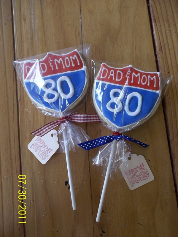80Th Birthday Party Ideas For Dad  80th Birthday cookies for Dad and Mom s party