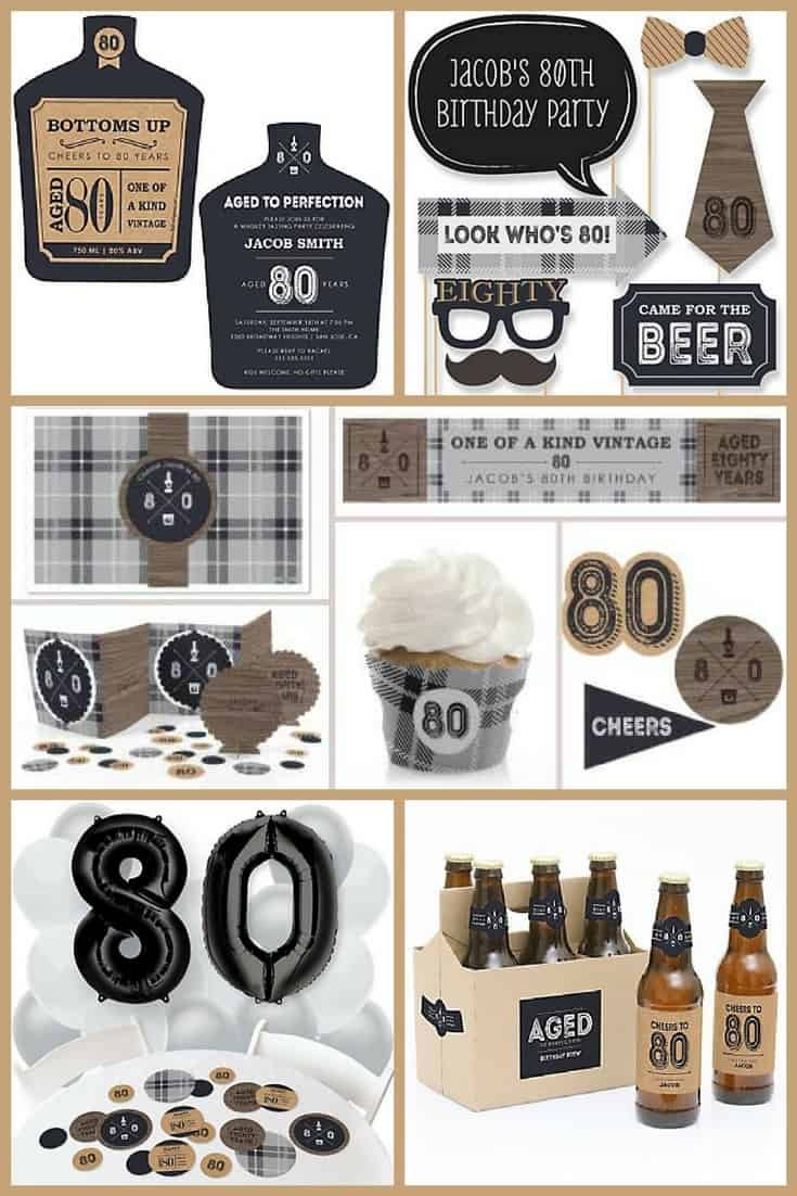 80Th Birthday Party Ideas For Dad  80th Birthday Party Ideas The Best Themes Decorations