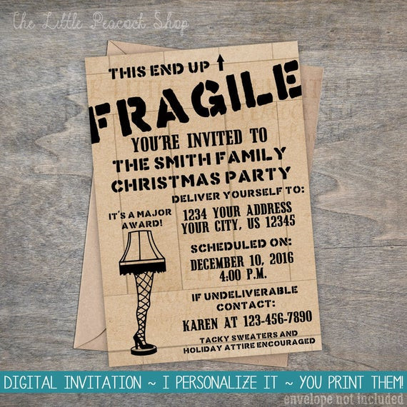 A Christmas Story Party Ideas  Items similar to A Christmas Story Invitation
